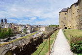Castle rampart and town Sedan, France — Stock Photo