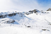 Mountains near town Tighnes in Paradiski, France — Stock Photo