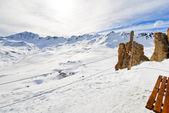 Slopes outside the ski area in Paradiski, France — Stock Photo