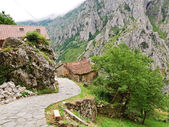Village in mountain national park Picos de Europa — Stock Photo