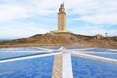 Fener kulesi herkül, la coruna, galiçya — Stok fotoğraf