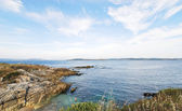 View of Bay of Biscay near La Coruna town, Spain — Stock Photo