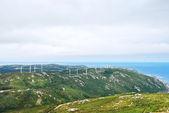 Rüzgar elektrik santralleri cape vilan, galiçya, i̇spanya — Stok fotoğraf