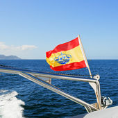 Yachts Ensign (Spain) on boat — Stock Photo