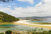 Panorama of Cies Islands in Atlantic, Spain — Stock Photo