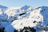 Snowy peaks of Alps mountains, France — Stockfoto
