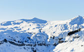 View of snow-capped mountains in Alps — Stock Photo