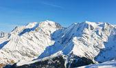 MontBlanc mountain in Alps — Stock Photo