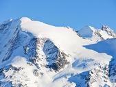 Snow Mont Blanc area in Alps — Stock Photo