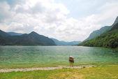 Boat in Lake Idro, Italy — Foto Stock