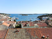 View of Hvar town on island in Adriatic Sea — Stockfoto