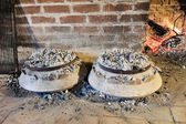 Cooking of traditional dalmatian meal Peka — Photo