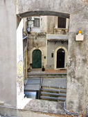 Patio of houses in center of Catania, Italy — Stock Photo