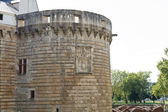 Tower of Castle of the Dukes of Brittany in France — Stock Photo
