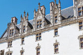 Facade of palace in Castle of Dukes of Brittany — Stock Photo