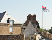 Flag of Nantes over Castle of Dukes of Brittany — Stockfoto
