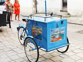 Traditional street ice cream trolley in France — Stock Photo