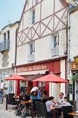 Улица Рю де ла морской в городе croisic Ле, Франция — Стоковое фото