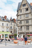 People on Place Sainte-Croix in Anges, France — Stock Photo