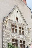 All historical facade on modern house — Stock Photo