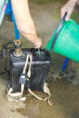 Preparing solution of pesticide — Stock Photo