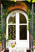 Door of new country house — Foto de Stock