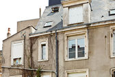 Facade of old urban houses in Angers, France — Stock Photo