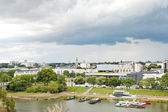 Urban port on La Maine river in Angers city — Stockfoto