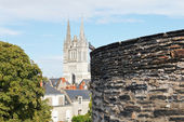 View of Saint Maurice Cathedral from Angers Castle — Stock Photo