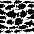 Vector fish silhouettes — Stock Vector #32023925