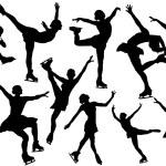 Vector figure skating silhouette — Stock Vector #49216713