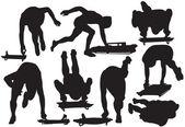 Sagoma scheletro sport vettoriale — Vettoriale Stock
