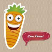 Cartoon Carrot — Stock Vector