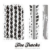 Tire marks — Vector de stock