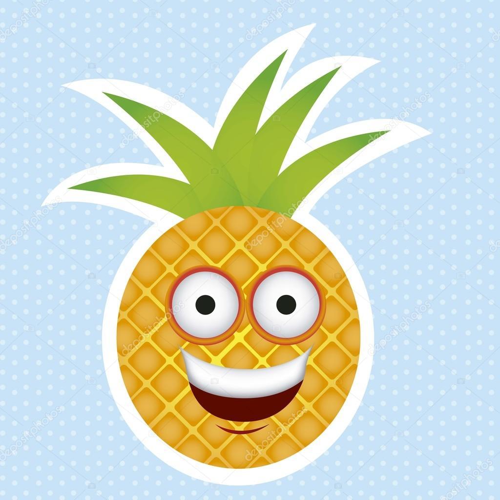 卡通菠萝 — 图库矢量图像08