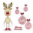Rudolph the reindeer — Stock Vector