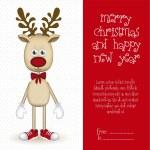 Rudolph the reindeer — Stock Vector
