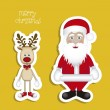 christmas characters — Stock Vector
