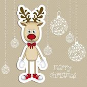 Rudolph the reindeer — Vector de stock