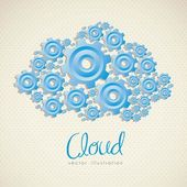 The Cloud — Stock Vector