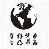 Ekologiska ikoner — Stockvektor
