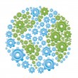 Earth with gears — Stock Vector #12783491