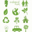 Ecological icons — Image vectorielle