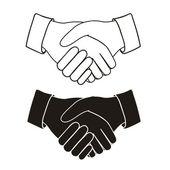 Poignée de main — Vecteur