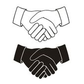 рукопожатие — Cтоковый вектор