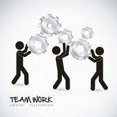 Team work — Stock Vector