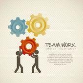 Trabajo en equipo — Vector de stock