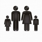Illustration of a family — Stock Vector