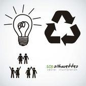 Ecological icon — Stock Vector