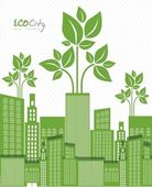 Ecological the cityn — Stock Vector
